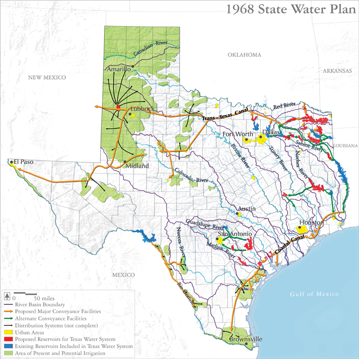 Complete Map Of Texas.Maps Texaswaterplan1968 The Texas Landscape Project
